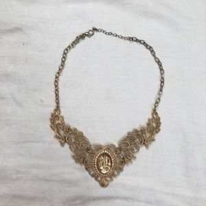 Francesca's Collections Jewelry - Gold and Pink Statement necklace Francesca's